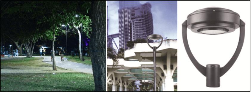 Led l mpara de calle parques y exteriores serie a for Lamparas de led para exteriores