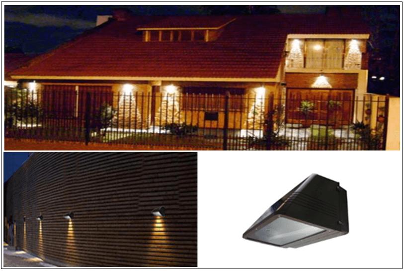 Luminarias LED de Fachadas, Lamparas led para Paredes, iluminacion ...